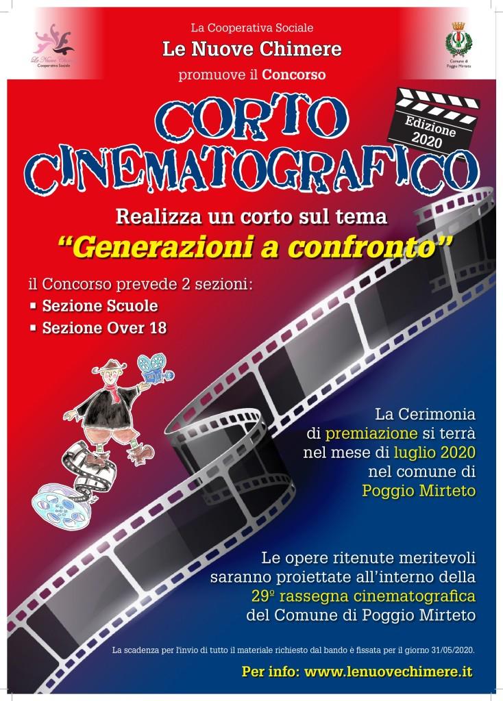 Locandina A3 Concorso Cinematografico 2020